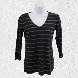 Tommy Hilfiger Sweater black silver small